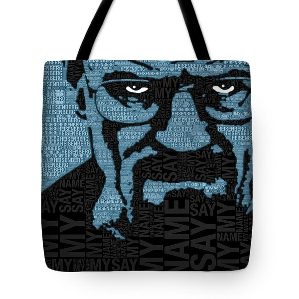 Walter White Heisenberg Breaking Bad Tote Bag by Tony Rubino