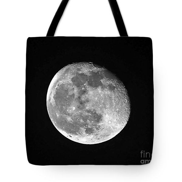 Waning Pink Moon Tote Bag by Al Powell Photography USA