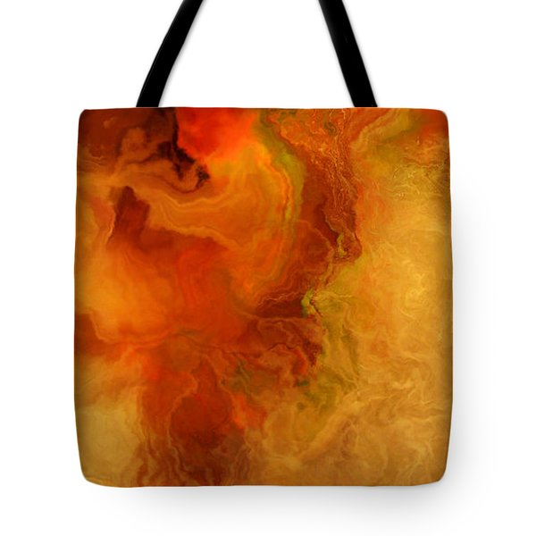 Warm Embrace - Abstract Art Tote Bag by Jaison Cianelli