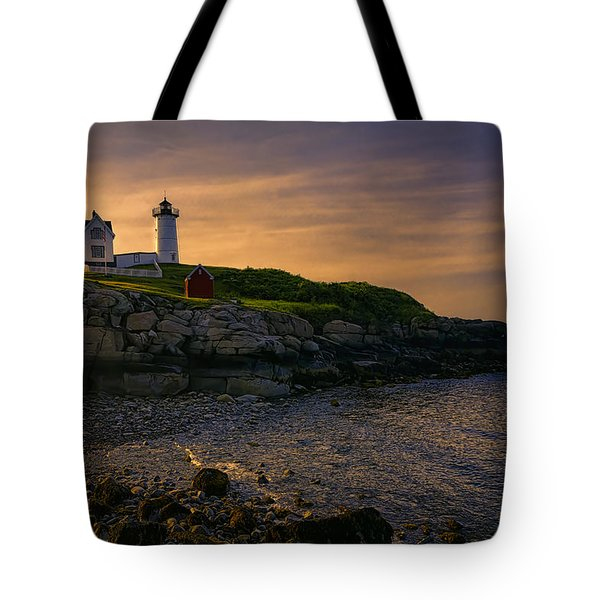 Warm Nubble Dawn Tote Bag by Joan Carroll