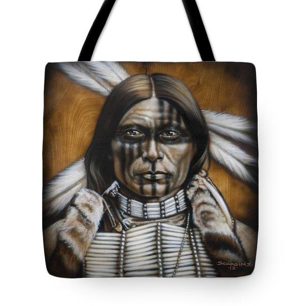 Warpaint Tote Bag by Tim  Scoggins