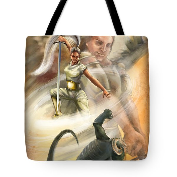 Warrior Tote Bag by Tamer and Cindy Elsharouni