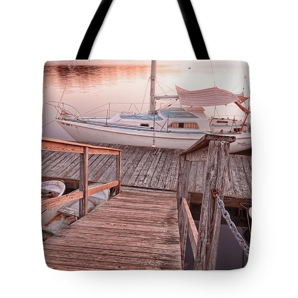 Warwick Marina Park Tote Bag by Lourry Legarde