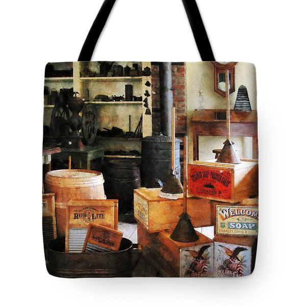 Washboards and Soap Tote Bag by Susan Savad