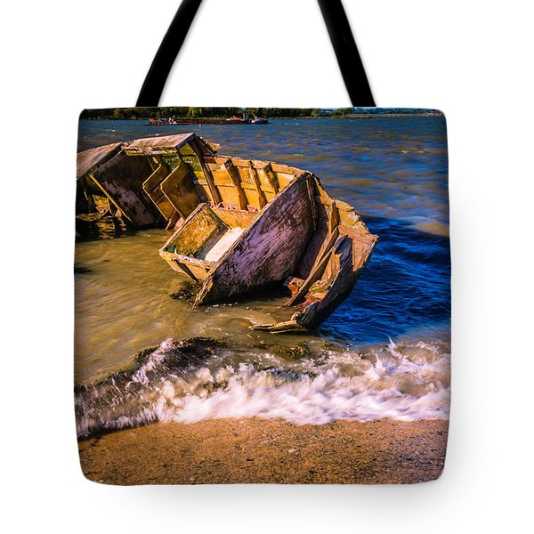 Washed Up Tote Bag by Dawn OConnor