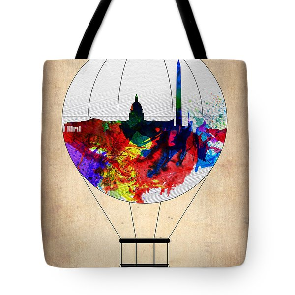 Washington D.c. Air Balloon Tote Bag by Naxart Studio