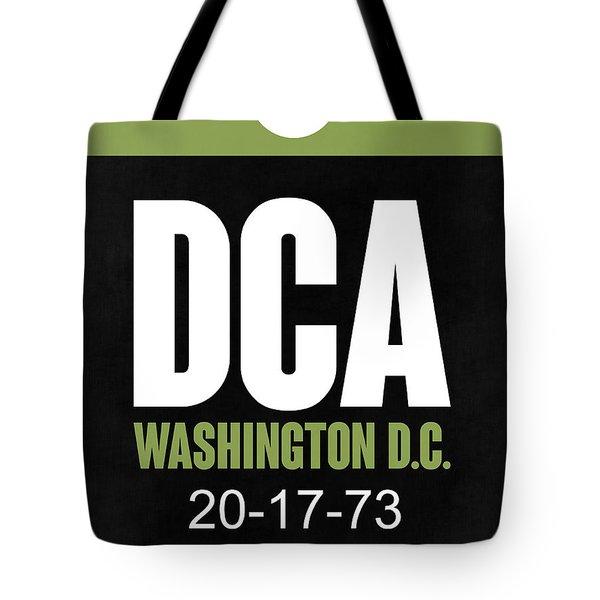 Washington D.c. Airport Poster 2 Tote Bag by Naxart Studio