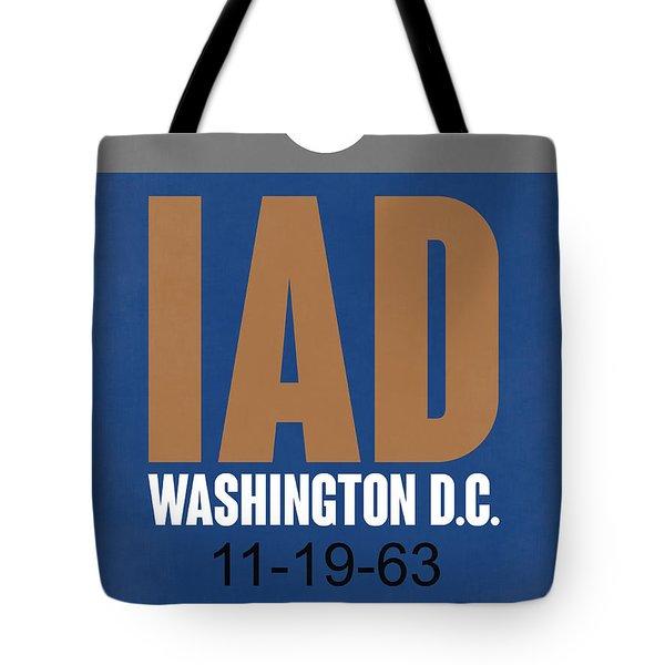Washington D.c. Airport Poster 4 Tote Bag by Naxart Studio