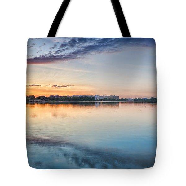 Washington Dc Panorama Tote Bag by Sebastian Musial