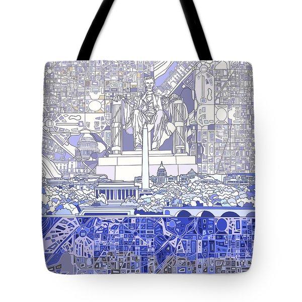 Washington Dc Skyline Abstract 3 Tote Bag by Bekim Art