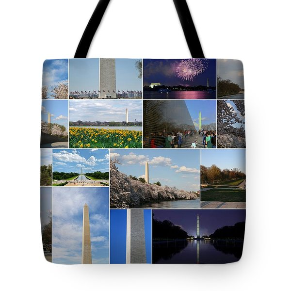 Washington Monument Collage 2 Tote Bag by Allen Beatty