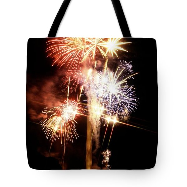 Washington Monument Fireworks 2 Tote Bag by Stuart Litoff