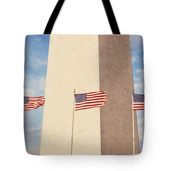 Washington Monument Washington Dc Usa Tote Bag by Panoramic Images