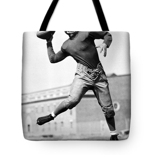 Washington State Quarterback Tote Bag by Underwood Archives