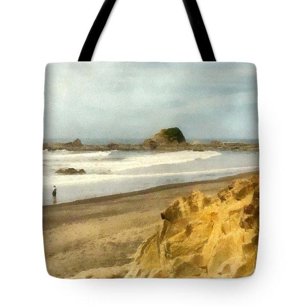 Washington State Seastacks Tote Bag by Michelle Calkins