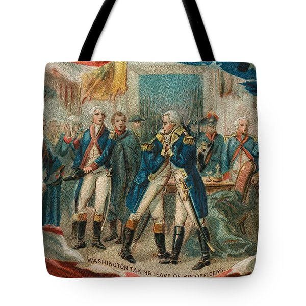 Washington Taking Leave Of His Officers Tote Bag by Anonymous