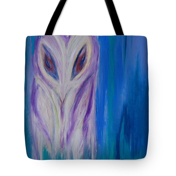 Watcher In The Blue Tote Bag by First Star Art