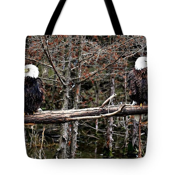 Watchful eyes Tote Bag by Elizabeth Winter