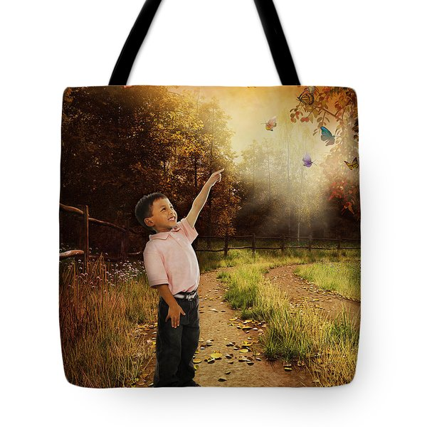 Watching Butterflies Tote Bag by Bedros Awak