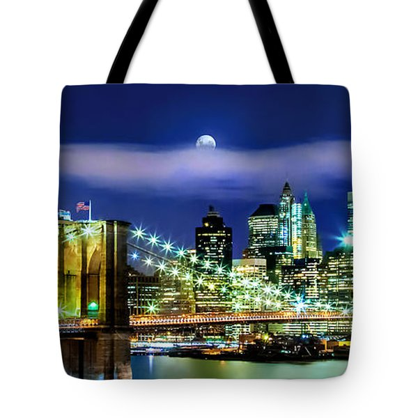 Watching Over New York Tote Bag by Az Jackson