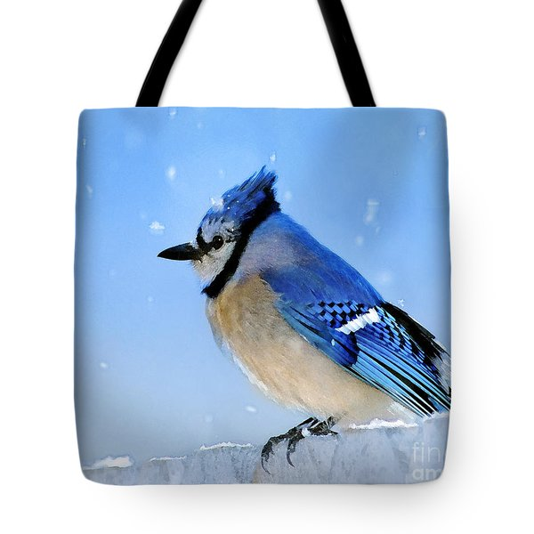 Watching The Snow Tote Bag by Betty LaRue