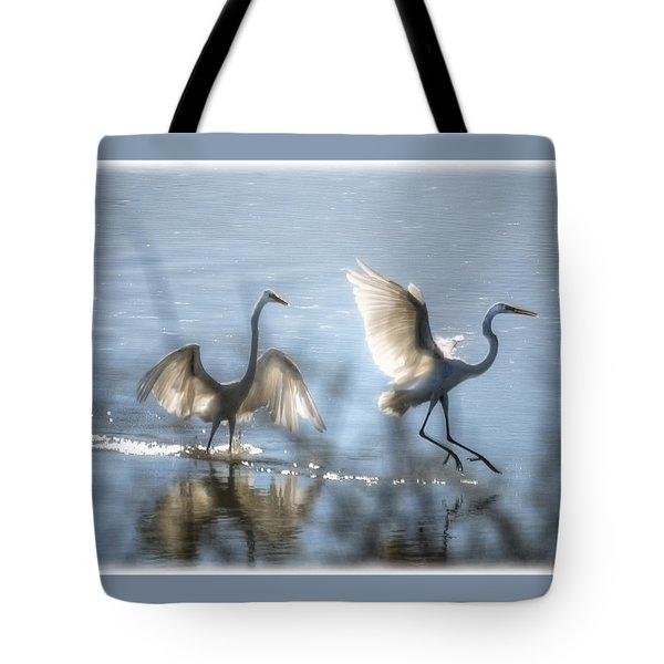 Water Ballet  Tote Bag by Saija  Lehtonen