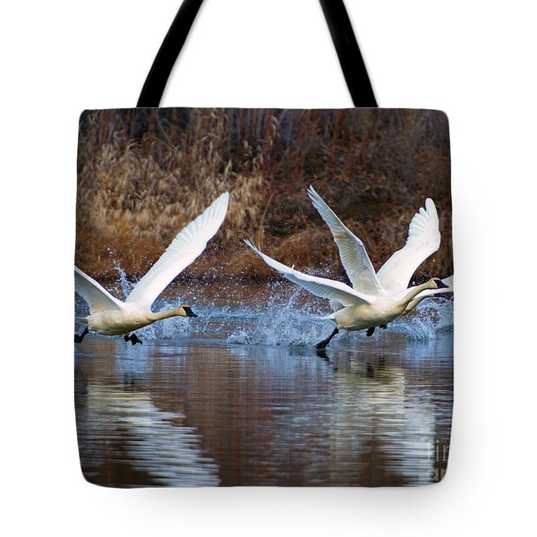 Water Dance Tote Bag by Mike  Dawson