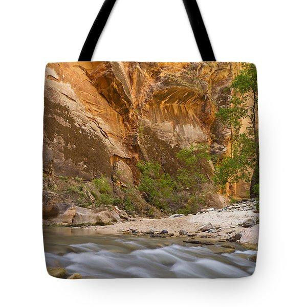 Water In The Narrows Tote Bag by Bryan Keil