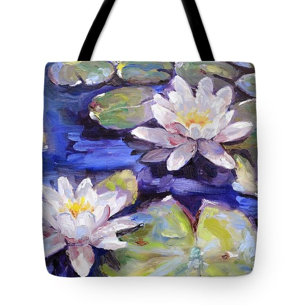 Water Lilies Tote Bag by Donna Tuten