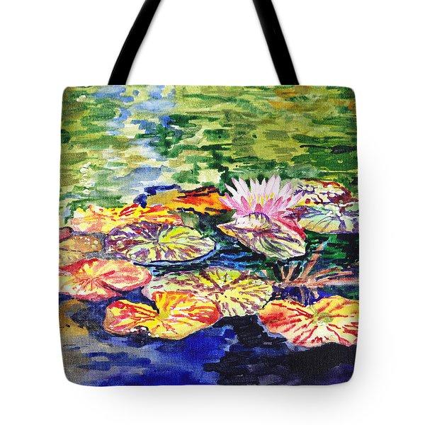 Water Lilies Tote Bag by Irina Sztukowski