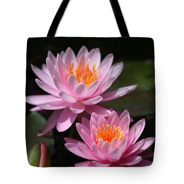 Water Lilies Love the Sun Tote Bag by Sabrina L Ryan