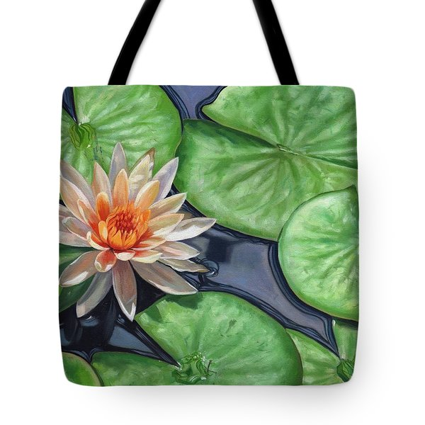 Water Lily Tote Bag by David Stribbling