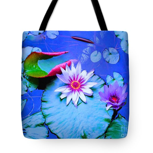 Water Lily I Tote Bag by Ann Johndro-Collins