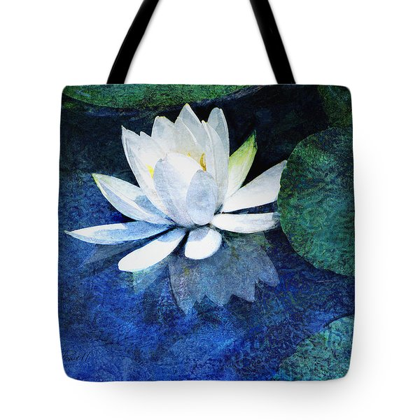 Water Lily Two Tote Bag by Ann Powell