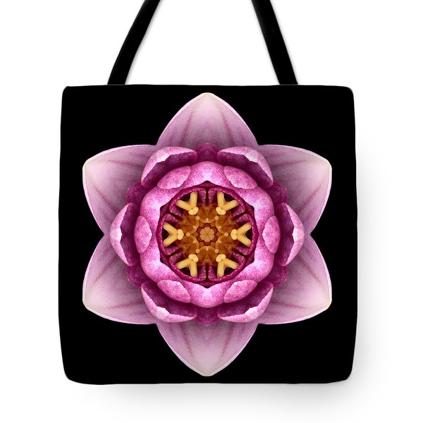 Water Lily X Flower Mandala Tote Bag by David J Bookbinder