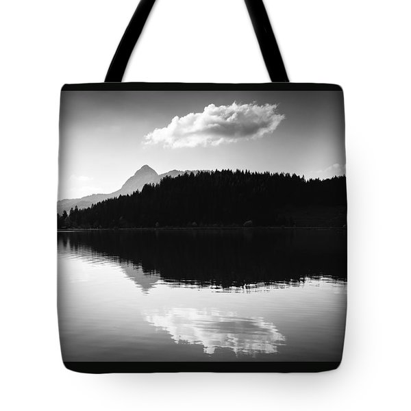 Water Reflection Black And White Tote Bag by Matthias Hauser