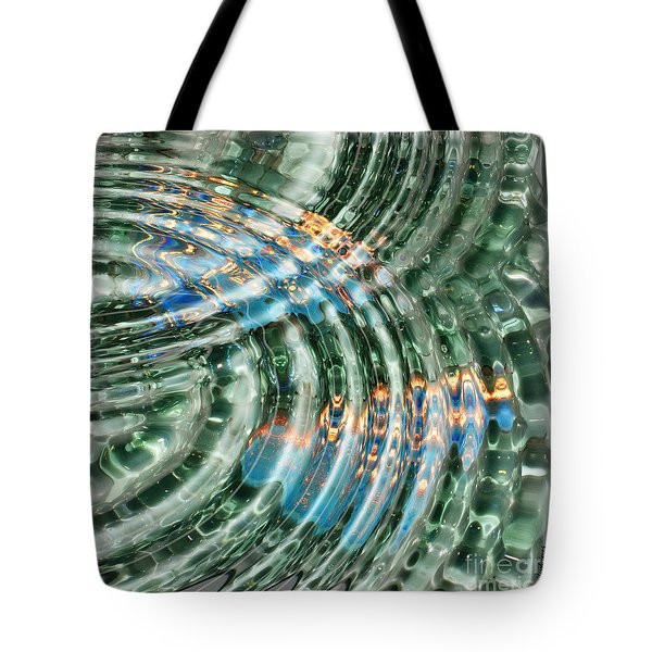Water Ripples Tote Bag by Cheryl Young