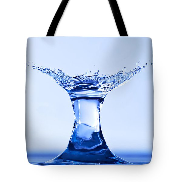 Water Splash Tote Bag by Anthony Sacco