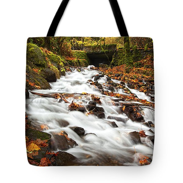 Water under the Bridge Tote Bag by Mike  Dawson