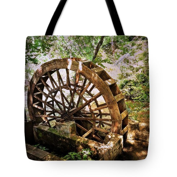 Water Wheel Tote Bag by Marty Koch