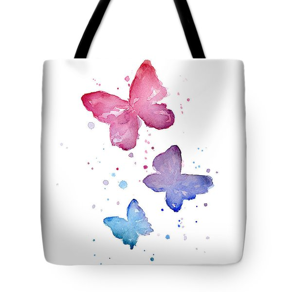 Watercolor Butterflies Tote Bag by Olga Shvartsur