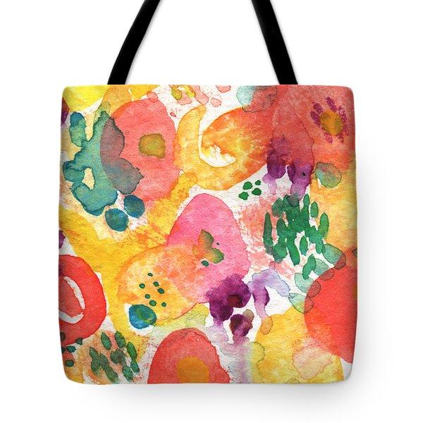 Watercolor Garden Tote Bag by Linda Woods