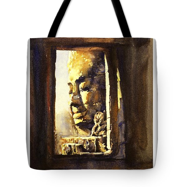 Watercolor Of Cambodian Temple Tote Bag by Ryan Fox
