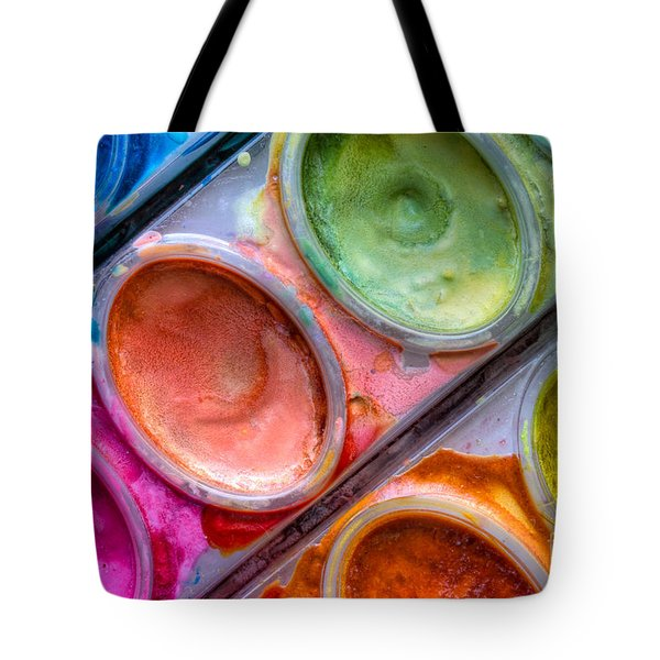 Watercolor Ovals One Tote Bag by Heidi Smith