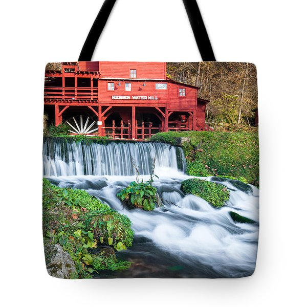 Waterfall And Hodgson Mill - Missouri Tote Bag by Gregory Ballos
