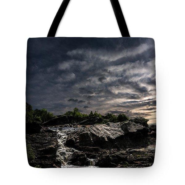 Waterfall at Sunrise Tote Bag by Bob Orsillo