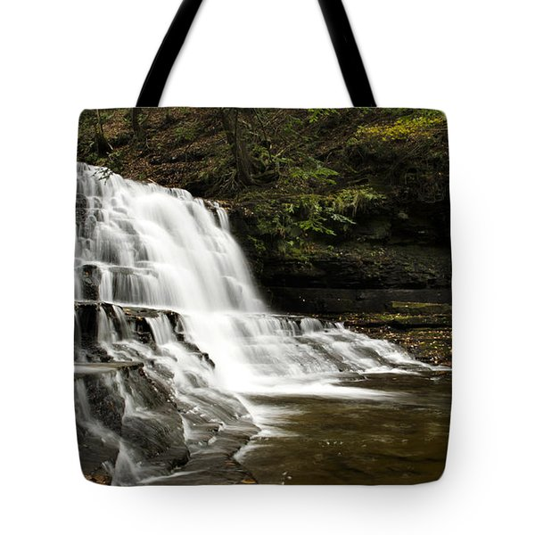 Waterfall Cascade Tote Bag by Christina Rollo