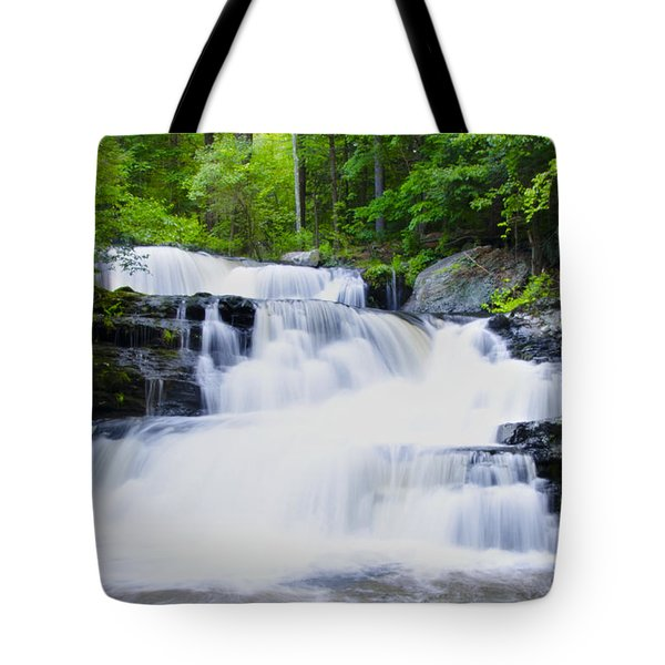 Waterfall in the Pocono Mountains Tote Bag by Bill Cannon