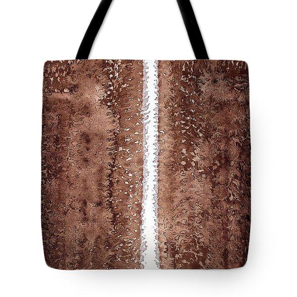 Waterfall Original Painting Tote Bag by Sol Luckman