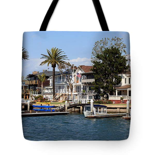 Waterfront Luxury Homes In Orange County California Tote Bag by Paul Velgos